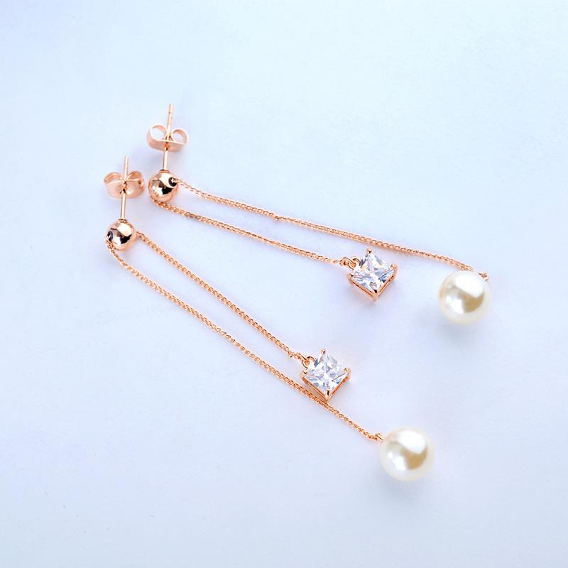 long style pearl earring 87888