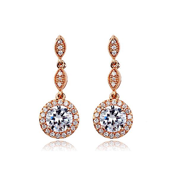 Clip on zircon earrings 321648