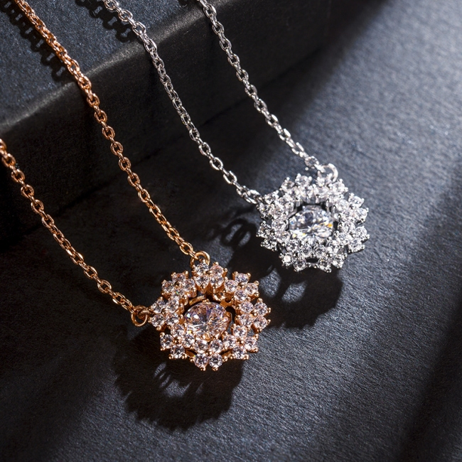 fashion zircon jewelry necklace 62137