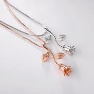 fashion rose flower pendant necklace 775...