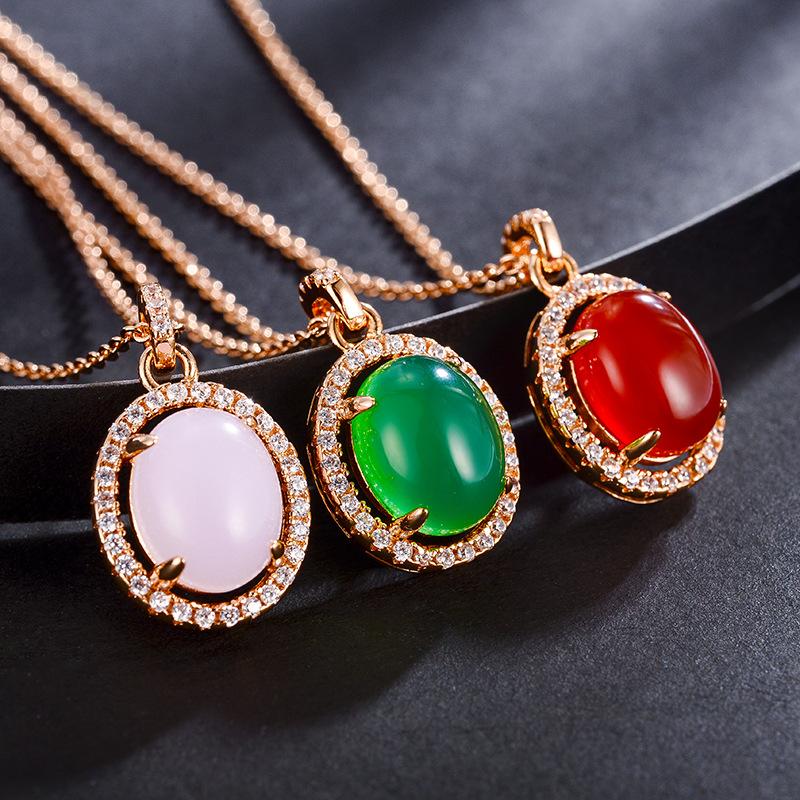 fashion opal jewelry necklace 77587