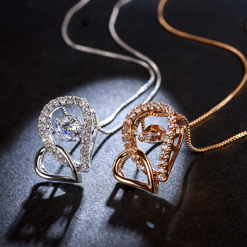 fashion zircon jewelry necklace 77594